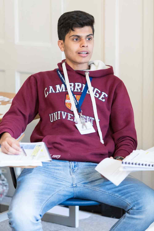 Boy at Cambridge Uni