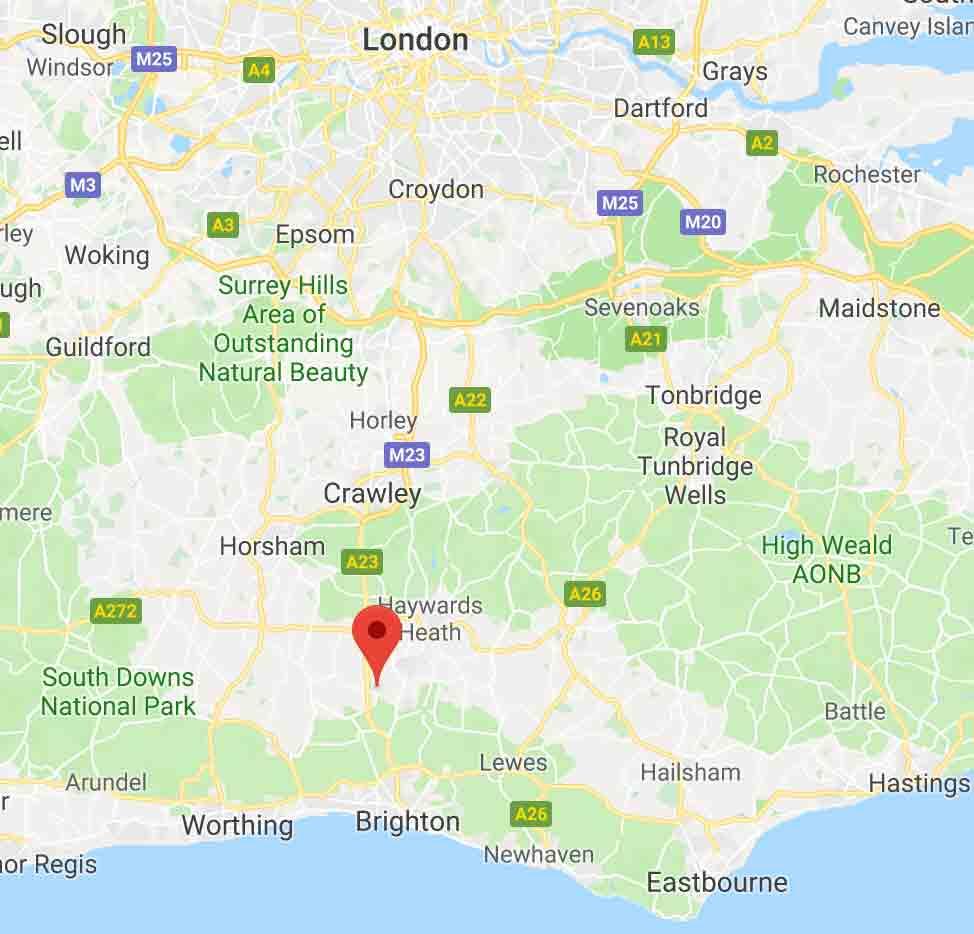 Hurstpierpoint on a map